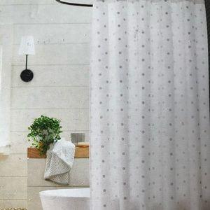 Fabric White Swiss Dot Shower Curtain